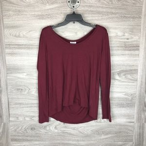 Splendid Long Sleeve Scoop Neck Tee